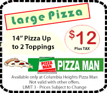 Columbia Heights Pizza Man Coupon