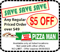 Pizza Main $5 OFF Coupon