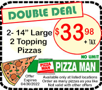 Pizza Main Double Deal Coupon