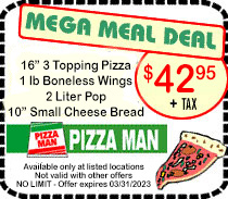 Pizza Man Mega Meal Coupon