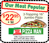Pizza man coupons
